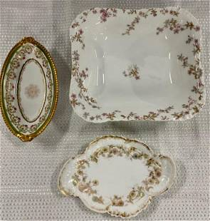 3 Assorted Pieces of Limoges