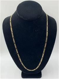 14k Figaro Chain Necklace 13.8g