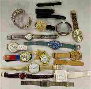 14 Assorted Watches and Watch Bands