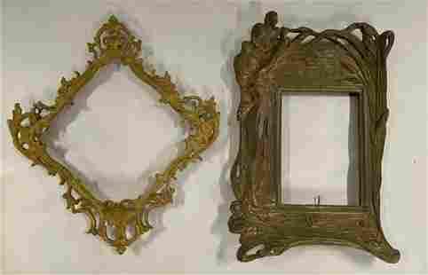 2 Cast Metal Picture Frames