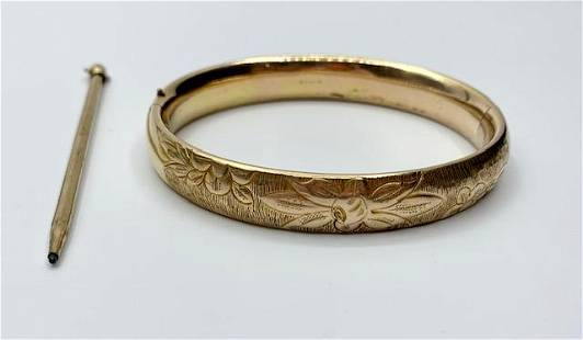 Gold Filled Bangle and Pencil
