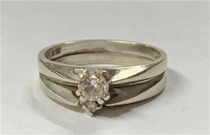 14K Diamond Wedding Ring 4g TW