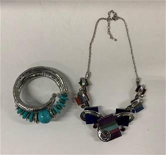 Colorful Designer Necklace and Bracelet