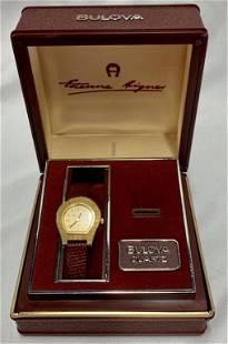 Bulova Aigner Dial Watch in Presentation Box