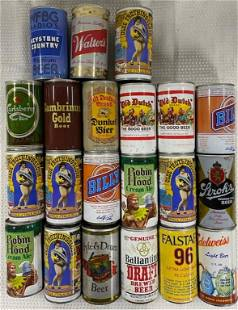 21 Assorted Vintage Beer Cans