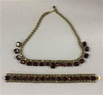 Beautiful Rhinestone Necklace and Bracelet