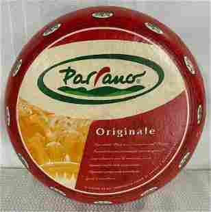Vintage Parrano Cheese Wheel Store Display