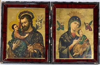 Two Framed Religious Icon Pictures