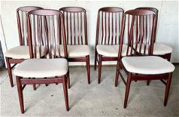 6 Vintage Benny Linden Mid Century Danish Chairs