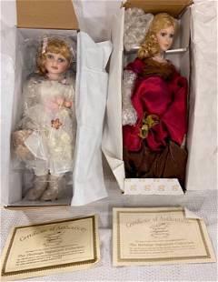 2 Heritage Signature Dolls In Boxes Coa