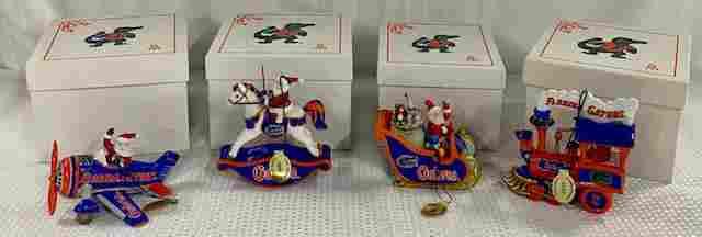 4 Florida Gators Danbury Mint Ornaments