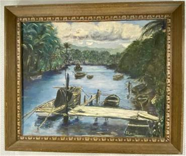 Signed Caolo Oil on Board