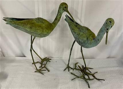 Pair of Bronze? Yard Birds