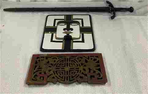 3 Decorator Asian Wood Pieces