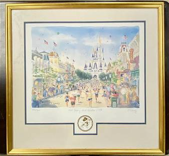 Framed 1997 Walt Disney Marathon Signed Print