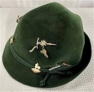 Fritz Gunzrodt Felt Hat w/Pins