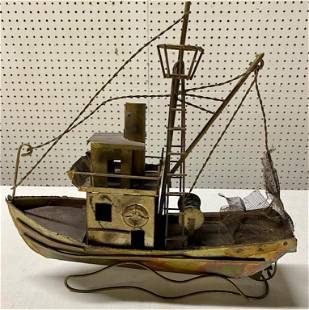1950's Metal Chinese Net Boat