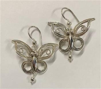 Sterling Butterfly Earrings