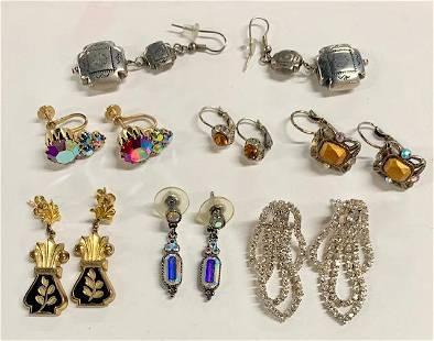 7 Pairs Beautiful Costume Earrings