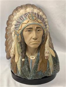 Lladro Indian Chief-Retired - Rare!
