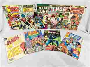 9 Assorted Vintage Comics Marvel & DC