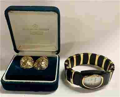 Joan Rivers Watch and Pair of Designer Earrings