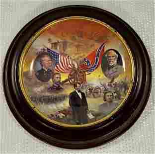 Framed Bradford Exchange Gettysburg Plate
