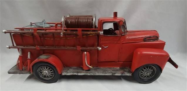 Decorator Metal Fire Truck