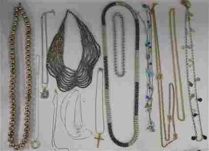 13 Assorted Costume Jewelry Necklaces