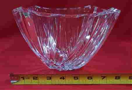 Heavy Designer Glass Bowl