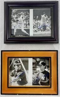 2 Framed Baseball NY Yankee Photos