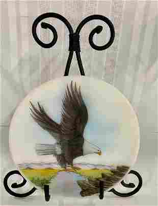 Fenton Signed & Numbered Eagle Plate