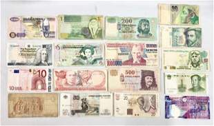 17 Pieces of Foreign Paper Currency