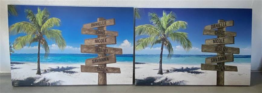 2 Wrapped Canvas Decorator Prints