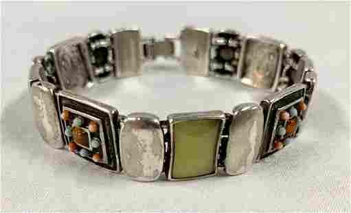 Sterling Designer Bracelet Marked LC