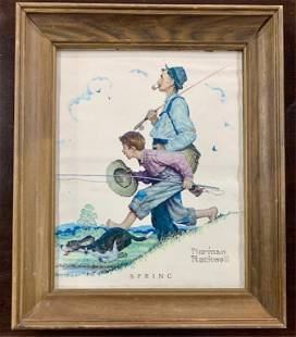 """Norman Rockwell """"Spring"""" Print"""