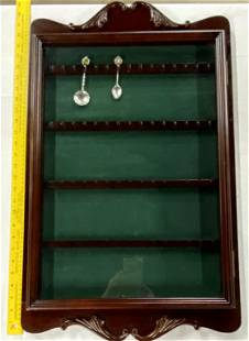 Glass Front Spoon Cabinet