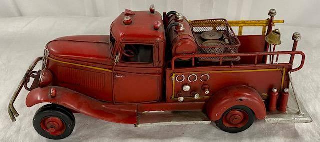 Metal Decorator Fire Truck