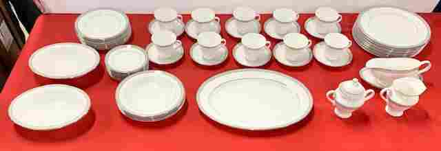 60 Pcs Waterford Carina Platinum Dinnerware