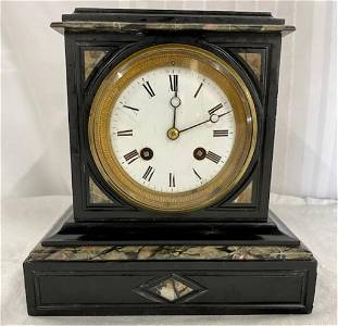 Beautiful Antique French Marble Mantle Clock