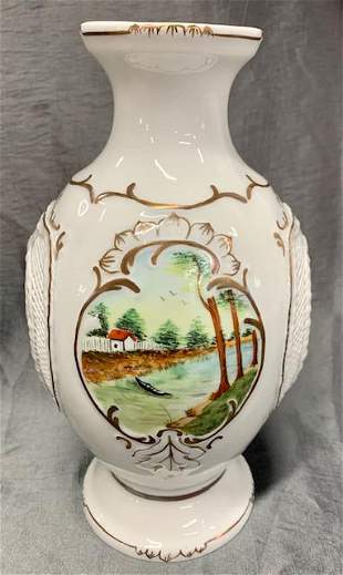 Beautiful Romanian Hand Painted MOGA Vase