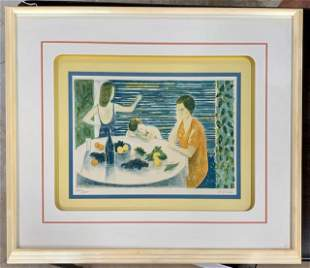 Framed Signed and Numbered Lithograph