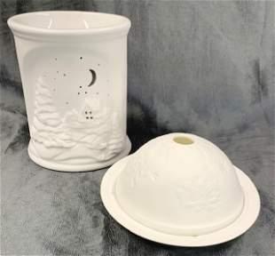2 Romanian Pottery Tealight Holders