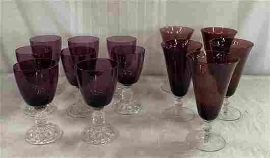 Sets of Amethyst Stems