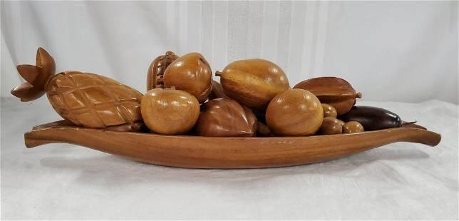12 Pc. Monkey Pod Wood Fruit Bowl