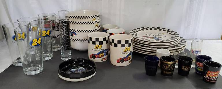 Jeff Gordon Dinnerware and NASCAR Collectables
