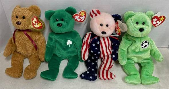 4 Assorted TY Beanie Babies