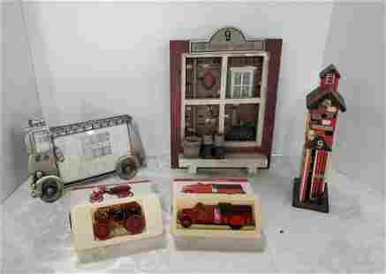 Assorted Firehouse Collectibles.