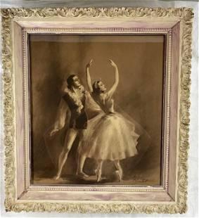 Vintage Charlot Print - Ballerina Dancers