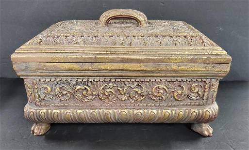 Carved Decorator Box with Lid
